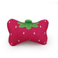 可爱草莓汽车头枕 护颈枕 车用头枕靠枕 汽车枕头