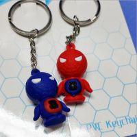动漫卡通公仔硅胶3D立体可爱蜘蛛侠钥匙扣 创意小挂饰品