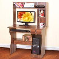 供应爱舒雅组合台式电脑桌带书架简约家用电脑台宜家办公桌