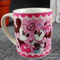 厂家直销 个人杯 创意时尚迪士尼米奇陶瓷杯马克杯 水杯子