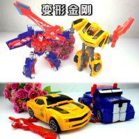 擎天柱大黄蜂汽车人变形金刚 动漫卡通机器人模型玩具 两款混批