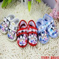 童鞋、婴儿鞋批发 爱婴美 格子米奇米妮鞋子、学步鞋、单鞋婴儿鞋