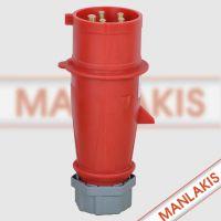 供应正品MANLAKIS工业插头TYP-4 航空插头 防水防尘5芯 32A 400V