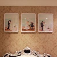 领煜塑料材质3框组合墙 照片墙 相框大画框 卧室床背头相片墙组合