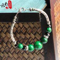 厂家直销绿松石手链 藏工手链 复古手链 民族饰品批发时尚女士