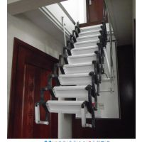 最专业的阁楼楼梯厂家 北京遥控伸缩楼梯价格 半自动阁楼伸缩楼梯