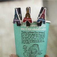 韩国文具创意 巴黎铁塔木头夹子迷你照片小夹家居学习礼品批发
