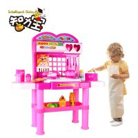 智力宝仿真过家家玩具 儿童玩具厨房玩具 小孩做饭煮饭餐具套装