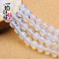 厂家直销 5A级蛋白石国产月光石散珠 半成品 DIY串珠饰配材料包