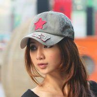 2015春季韩版女士帽子男士潮帽水洗牛仔帽休闲秋季新款帽红星 棒球帽