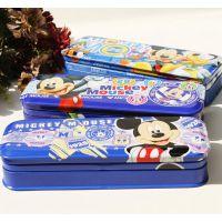 新品优乐迪士尼米奇Z6959三层铁皮笔盒加厚文具盒 铅笔盒文具批发