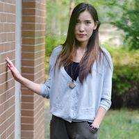 2013夏装款棉V领长袖薄款开衫针织衫 例外江南布衣风格