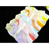 女士隐形外贸袜子厂家批发 船袜 夏季薄短棉袜子小圆点款彩色底袜