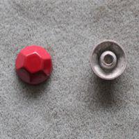 合金多边形铆钉 时尚喷漆铆钉扣子 大红色金属合金纽扣
