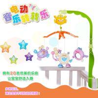 宝宝婴儿玩具0-1岁 音乐旋转床头铃 婴儿床挂件玩具卡通婴儿挂铃