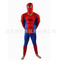 420g舞会万圣节服装 高档成人肌肉型蜘蛛侠服装衣服套装 加厚