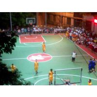 重庆塑胶篮球场EPDM材料0330型颗粒地坪,原装东大胶水质量可靠