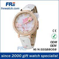 软陶手表 韩版女表学生粉色皮带玫瑰花朵创意礼品手表女 礼物