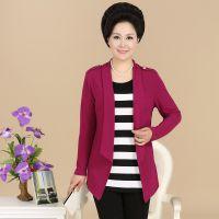 2014中老年女装秋装韩版长袖T恤 假二件妈妈装外套中年服装