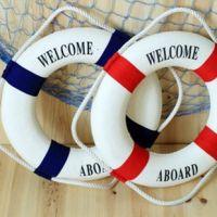 地中海74公分 创意家居饰品救生圈装饰挂件 红蓝两色75cm泳圈批发