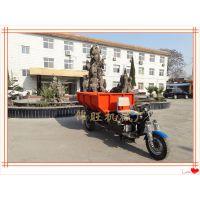 橙色2吨电动自卸车与燃油车相比较