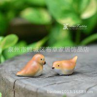 新款供应小小鸟树脂工艺品 多肉植物迷你园艺摆件 治愈系可爱萌物