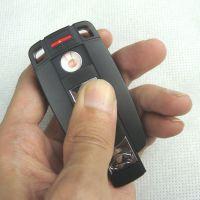 391宝马车钥匙/USB充电打火机/创意超薄防风/电子点烟器/个性无声