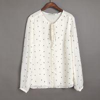 S4外贸原单春装新款大码女装衬衫上衣打底衫长袖衬衣雪纺衫女潮