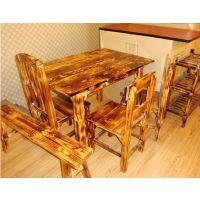 厂家热卖火烧木系列——餐桌、方桌、圆桌、八仙桌(尺寸可定做)