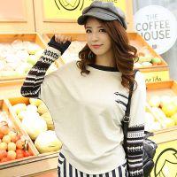 厂家直销女装 一件代发 2014秋装新款 韩版时尚宽松蝙蝠袖T恤女装