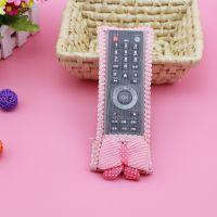 满天星韩式蝴蝶结版布艺电视机空调遥控器套防尘罩一件起专业批发