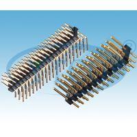供应2.54mm间距排针单排双排单塑双塑连接器