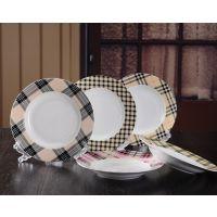 餐盘 平盘汤盘子套装 五只装