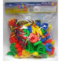 童才品牌 拼音字母串珠 益智玩具塑料拼插  TC-3068