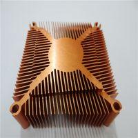 电脑机箱u型导热块 氧化黑铝材散热系统 大功率电器通用散热器