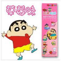 韩国 蜡笔小新 儿童可食无氟牙膏(草莓) J20250-1