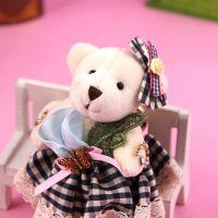 【清仓】AM3318 韩版蝴蝶毛绒淑女女士钥匙扣小熊挂件包包扣 要挂