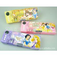 正品迪士尼授权 公主多功能 文具盒 铅笔盒 批发 DP9906