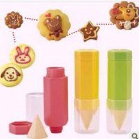 日本木晖 美食绘画笔3件套 DIY烘焙曲奇饼干模具蛋糕面包制作工具