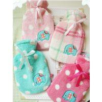 冬季必备品 可爱珊瑚绒小象热水带套+冲水热水袋 4色入