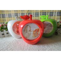 八音苹果钱罐双面3寸相框儿童宝宝影楼照片相框音乐旋转相架像框