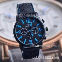 亚马逊 速卖通 ebay热卖 男士时尚运动手表 车线表带硅胶手表