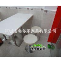 食堂 小吃店大理石餐桌 成套家具 配套桌椅定制 4人桌现代风格