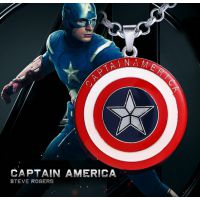 速卖通爆款复仇者联盟-美国队长星星盾牌项链 精工立体吊坠批发