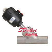 供应供应国标标准不锈钢焊接气动角座阀