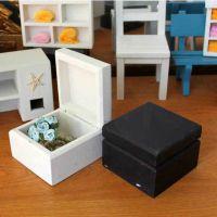 ZAKKA杂货【迷你】小家具 实木首饰盒 木质小收纳盒子 黑白双色入