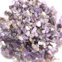 批发供应天然紫水晶碎石,水晶装潢材料