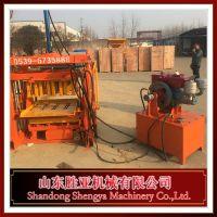 柴油动力砖机、柴油砖机、不用电的水泥砖机、柴油液压砖机