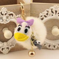 韩国东大门钥匙扣吊坠 兔毛毛球钥匙链韩国可爱毛绒挂件混批