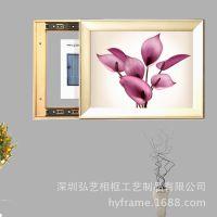 电表箱遮挡 有框装饰画 现代客厅简框挂画 可定制各种规格电箱画